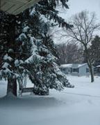 So, it did snow last night....again!