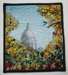 Wisconsin State Capitol:  Autumn (by Jane Weier, Mulberry Patch Quilts) 2013