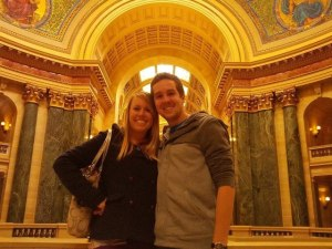At the Capitol tour, Madison