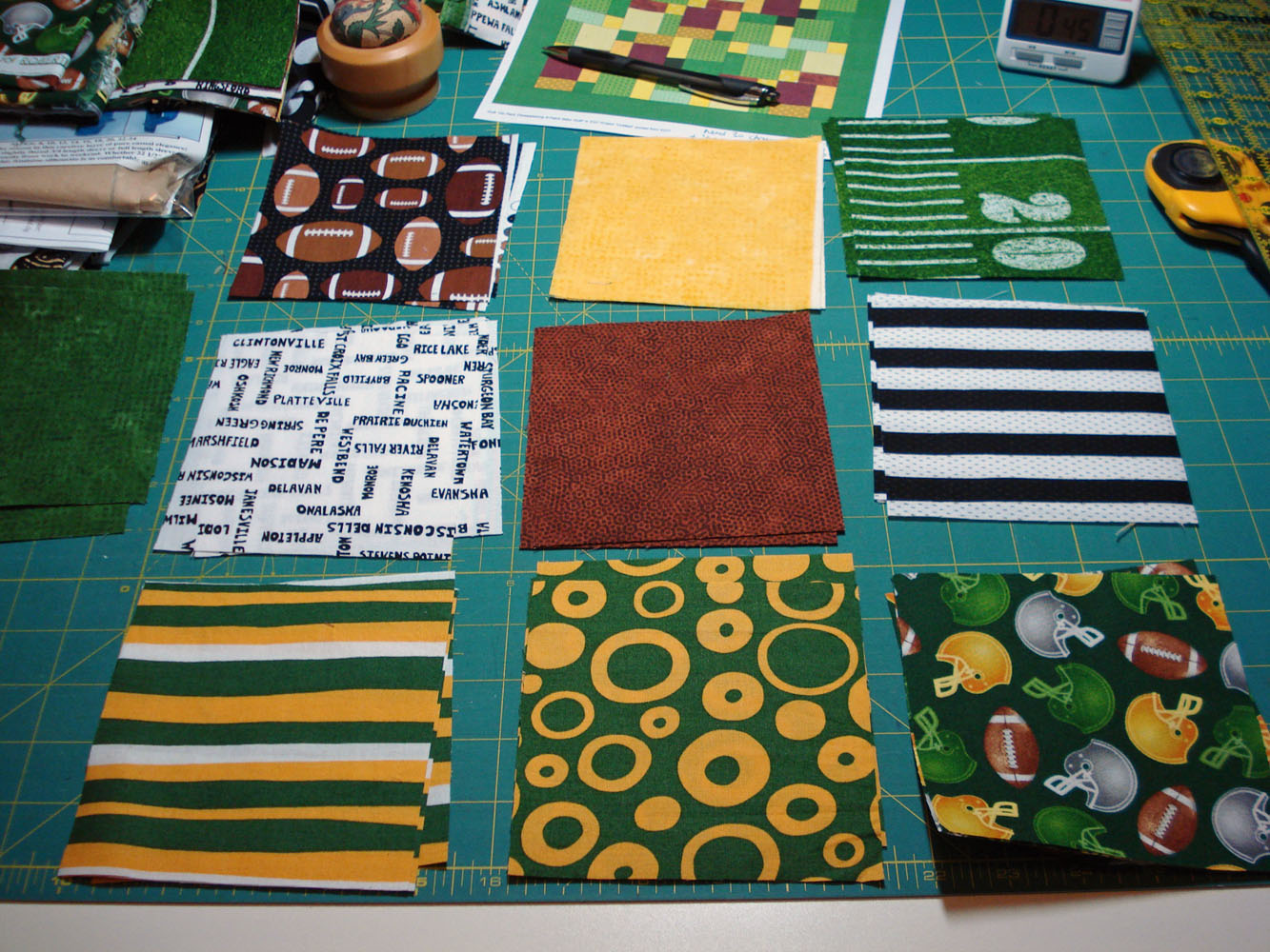 Green Bay Packers Mulberrypatchquilts