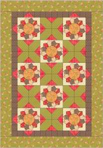 Honeysweet lap quilt