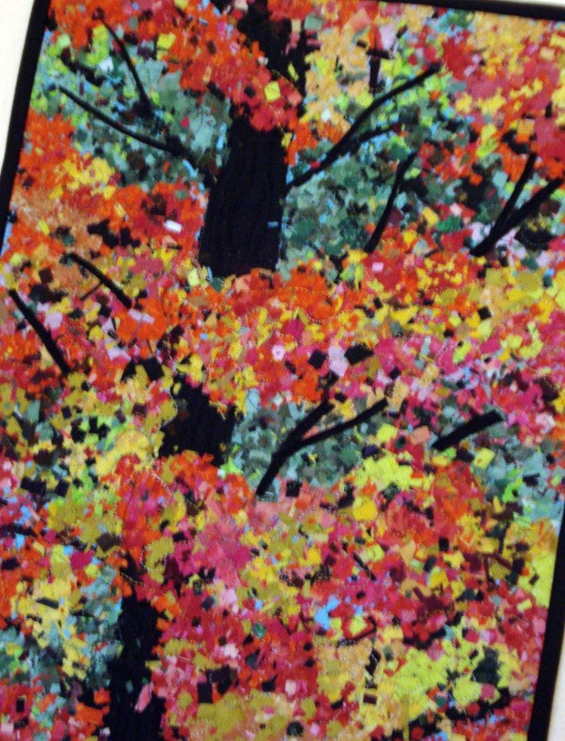 Autumn Leaves Art Quilt Series #2