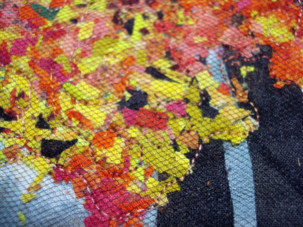 Autumn Trees with Fence Mini Quilt Wall Hanging – mulberrypatchquilts