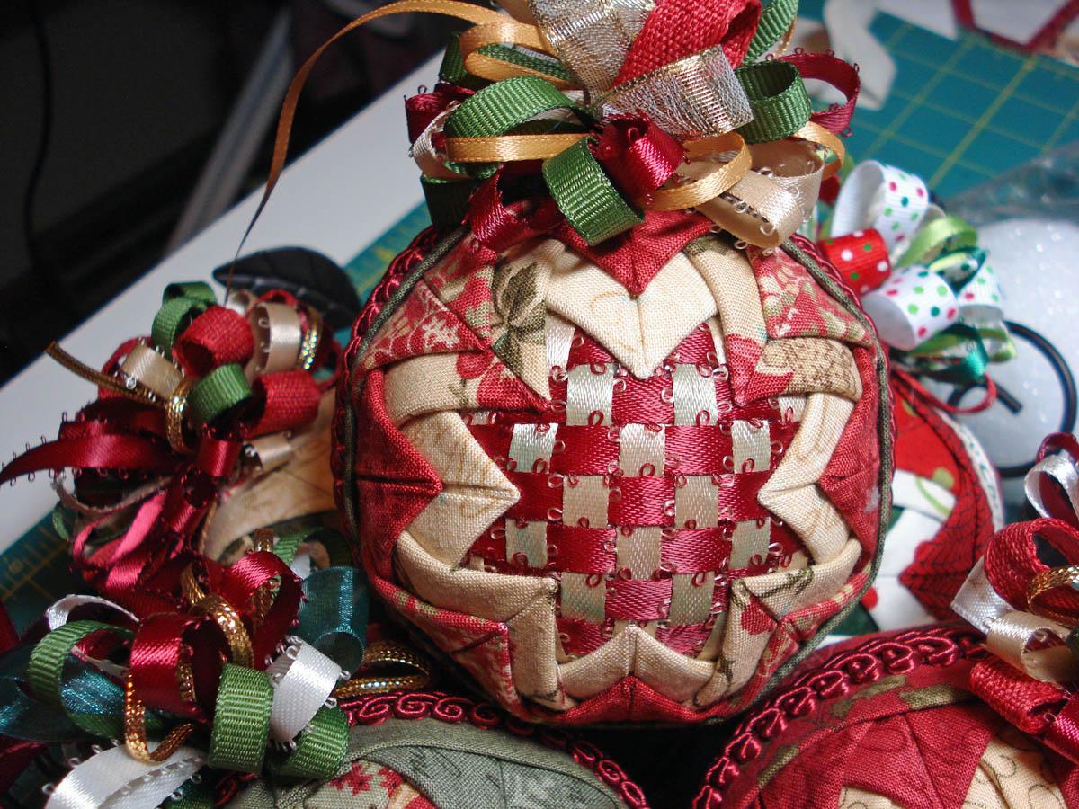Folded fabric christmas tree - Ornaments3