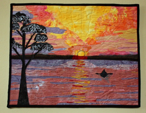 Sunset Art Quilt for Project Quilting Challenge