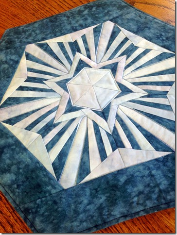 Icy Blue Kaleidoscope Snowflake—Paper Pieced