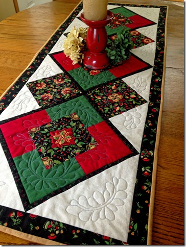 Mulberry Patch Quilts Table Runner by Jane Weier