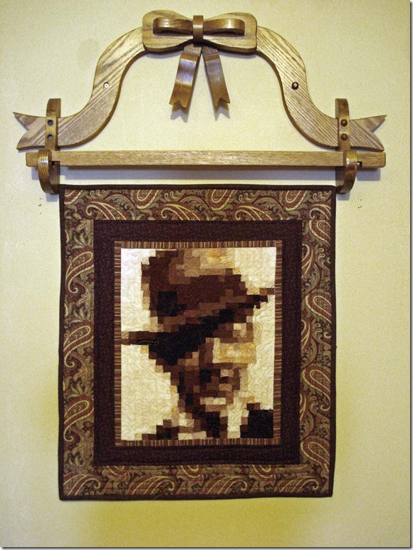 Mosaic Pixelated Quilted Wall Hanging