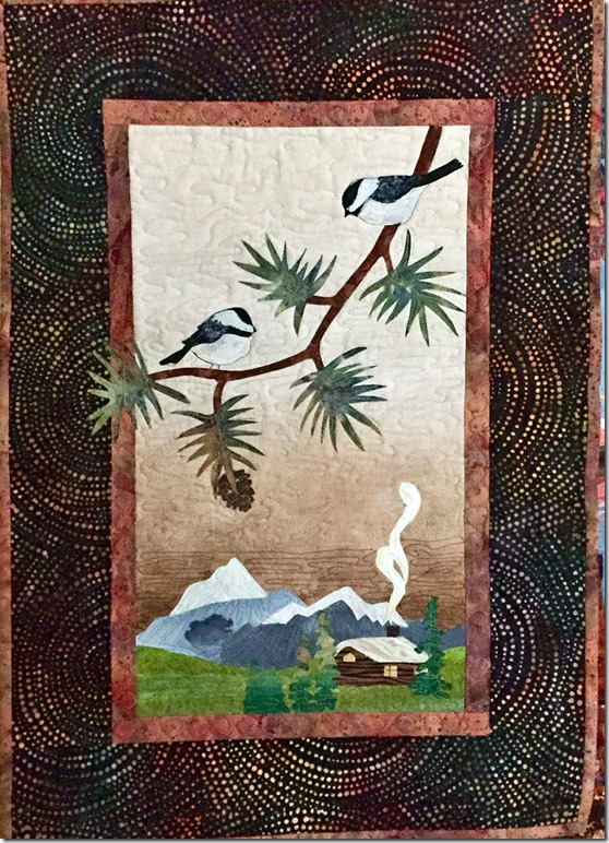 Chickadee Mountain View Art Quilt