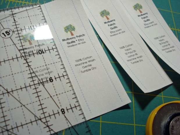 How to Make Fold-Over Labels for Your Quilts or Other Sewing Projects