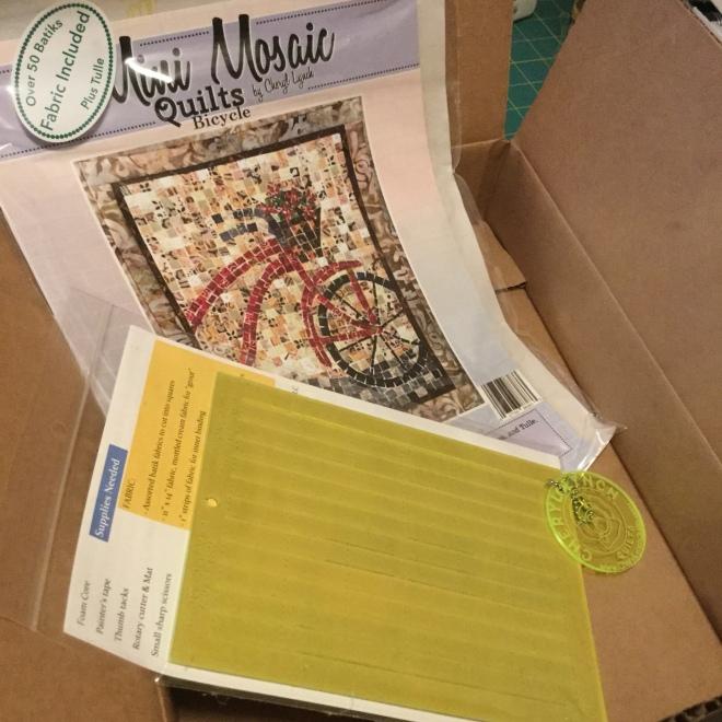 Photo of mosaic quilting kit