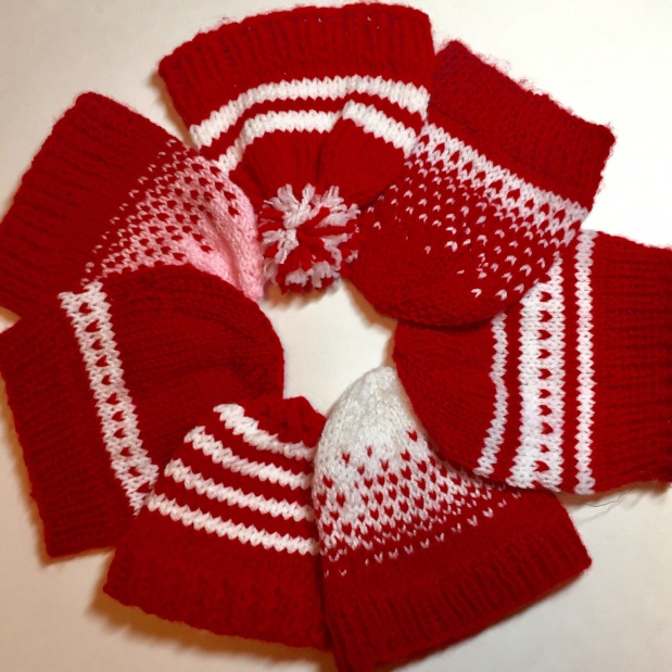 Knitting Baby Hats for Charity—Tiny Hearts Pattern