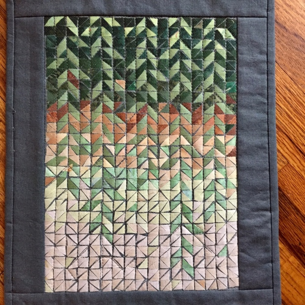 Project Quilting 9.2 Entry: Mosaic Falling Leave
