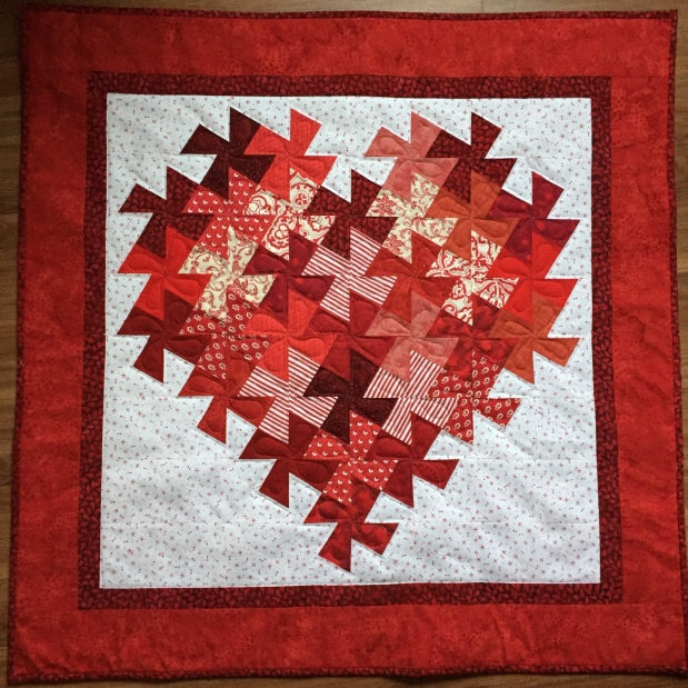 Quilted Hearts and Twister