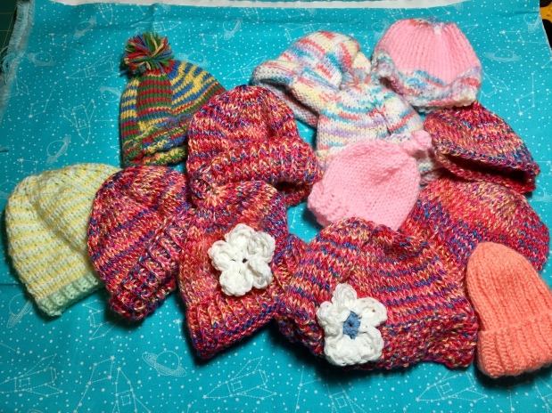 "Baby Knit Hats for ""Hope 2 Others"" Charity"