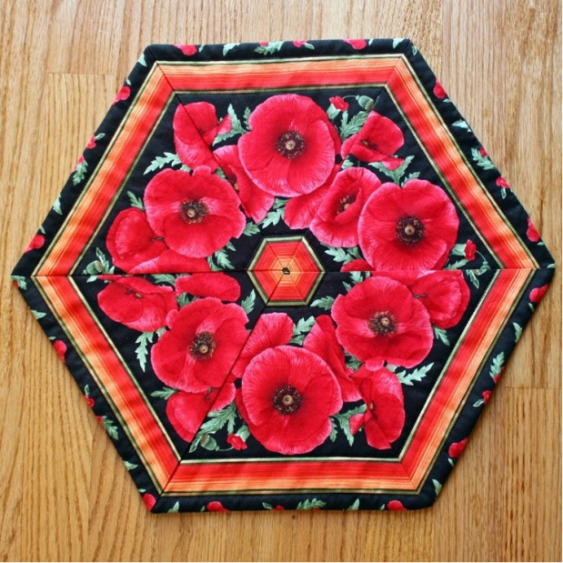Bright Poppy Table Topper for Vibrant & Vivacious
